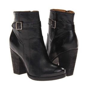 Frye Patty Riding Bootie in Black